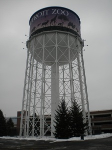 The famous Detroit Zoo Water Tower