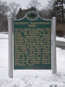 Historical Marker at the Zoo