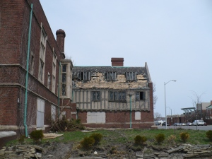 Photo taken by me in 2011 showing the damage done to the building