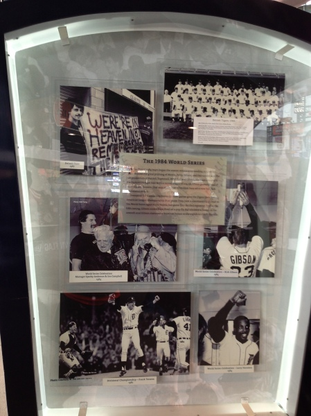 Display on the '84 World Series