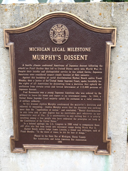 Plaque outside the museum