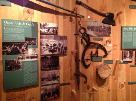 You can't have a northern (ish) Michigan museum without a display on logging!