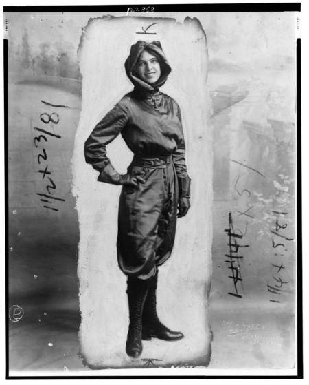 Harriet Quimby, c. 1911.  Courtesy of the Library of Congress