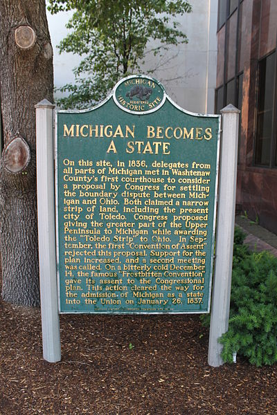 Marker commemorating the event in Ann Arbor (source)