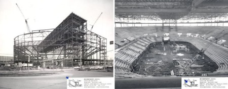 Construction of Joe Louis Arena (source)