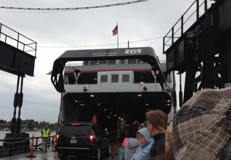 In line to get on the ship, you can see that it is labeled as part of U.S. 10