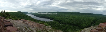 Panorama view of Lake of the Clouds