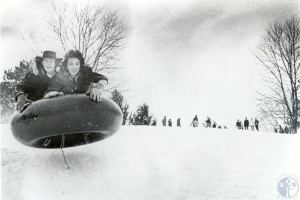 The blizzard also hit Ohio, where this excellent photo of kids having fun in the snow was taken. Courtesy of the Kenton County Public Library